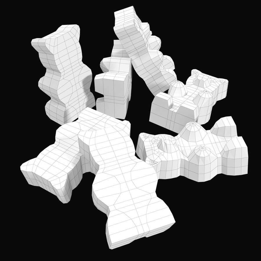 Gummy bears royalty-free 3d model - Preview no. 9