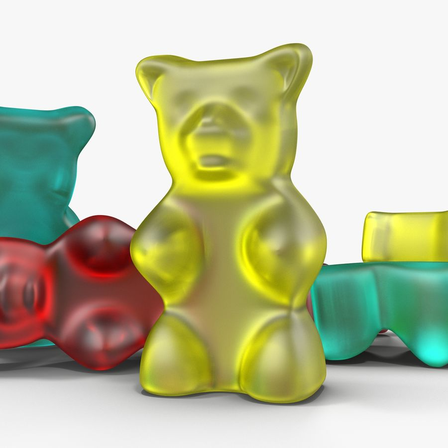 Gummy bears royalty-free 3d model - Preview no. 4
