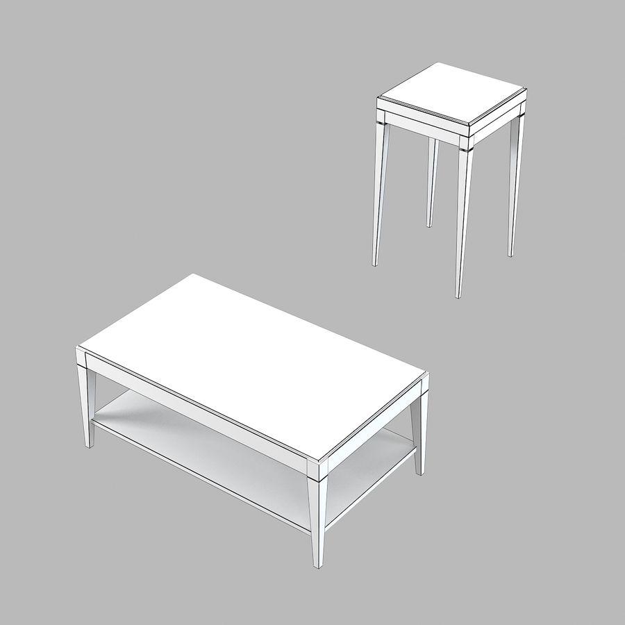 Selva Eleganza 3221 3218 Кофейный столик royalty-free 3d model - Preview no. 4