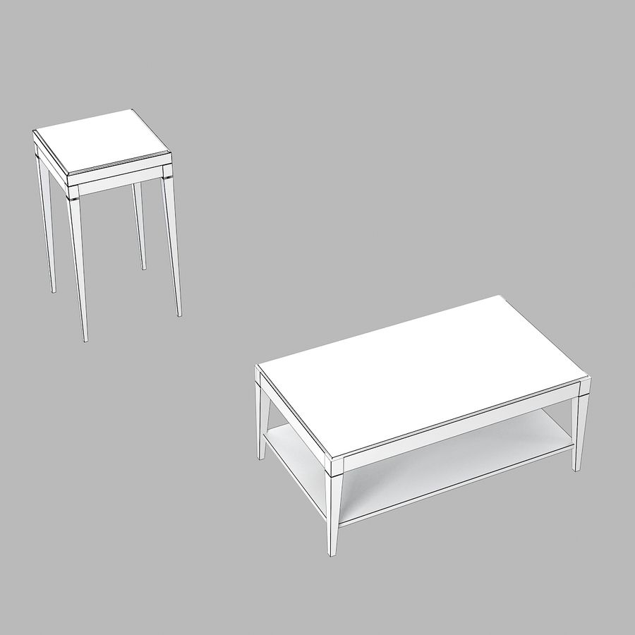 Selva Eleganza 3221 3218 Кофейный столик royalty-free 3d model - Preview no. 5