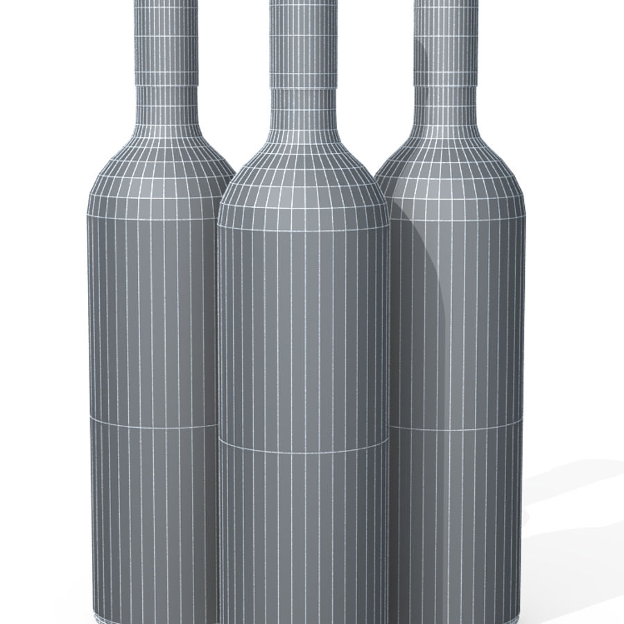 Wine Bottles royalty-free 3d model - Preview no. 10