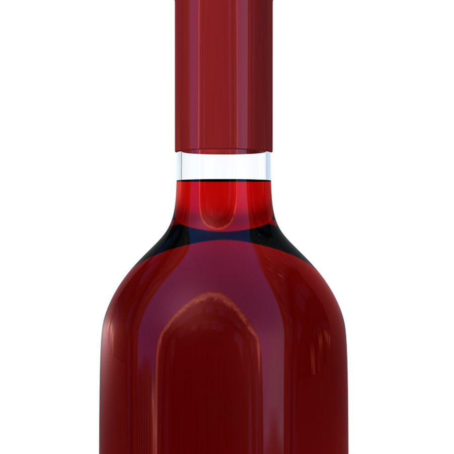 Wine Bottles royalty-free 3d model - Preview no. 4