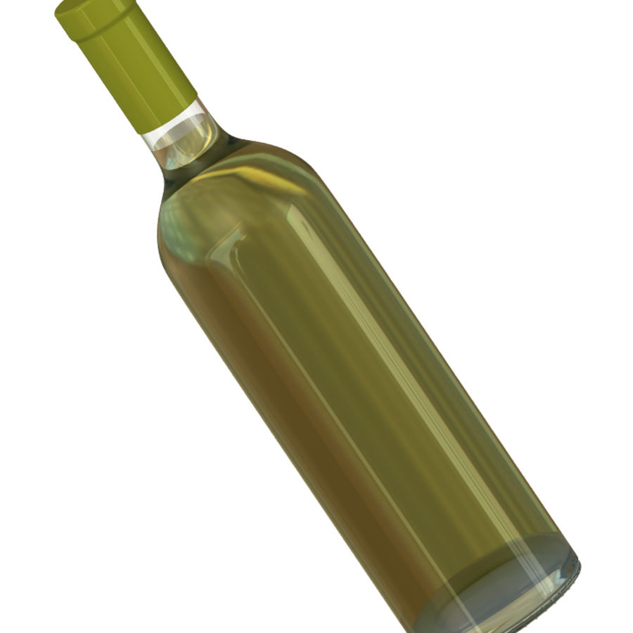 Wine Bottles royalty-free 3d model - Preview no. 8