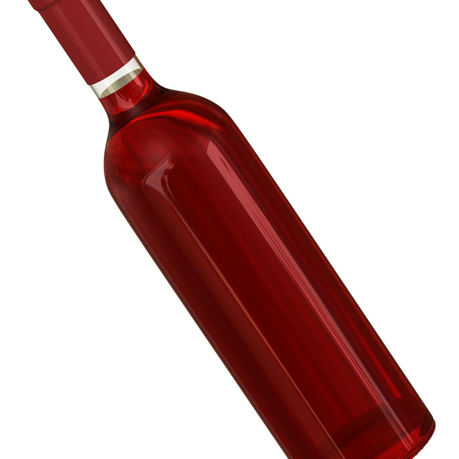 Wine Bottles royalty-free 3d model - Preview no. 7
