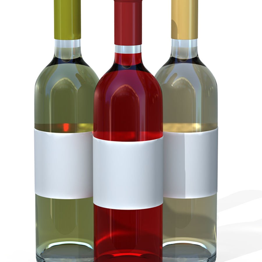 Wine Bottles royalty-free 3d model - Preview no. 1