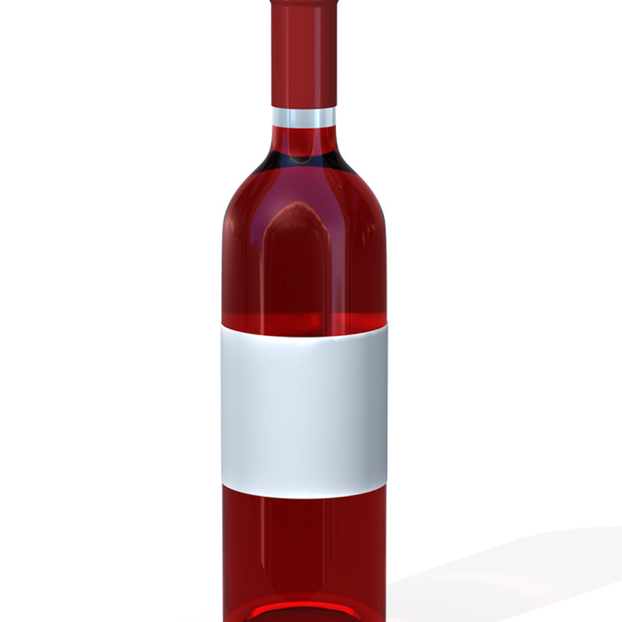 Wine Bottles royalty-free 3d model - Preview no. 6