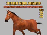 Horse 3D模型动画 3d model