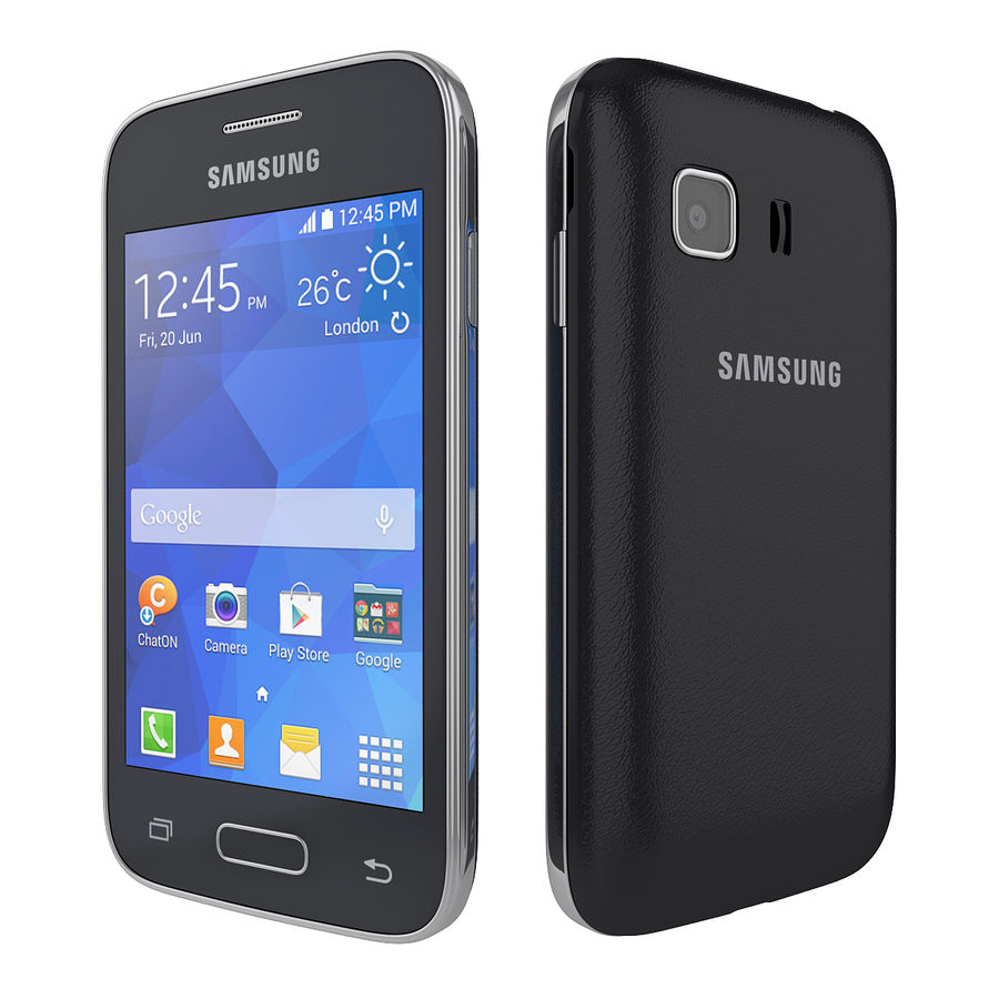 Samsung Galaxy Young 2 Smartphone 2014 royalty-free 3d model - Preview no. 2