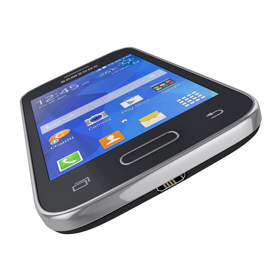 Samsung Galaxy Young 2 Smartphone 2014 royalty-free 3d model - Preview no. 10
