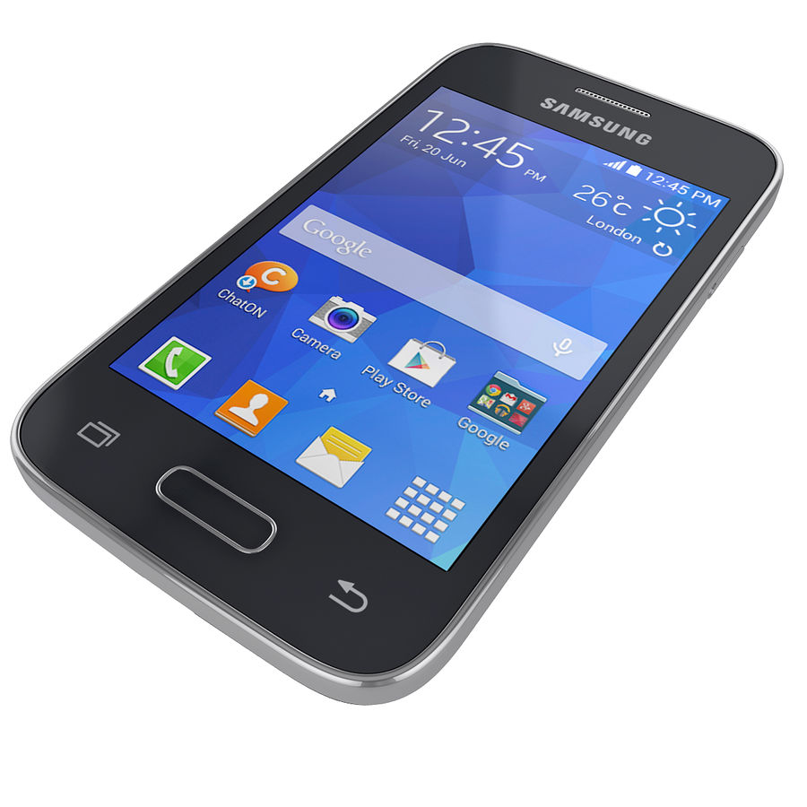 Samsung Galaxy Young 2 Smartphone 2014 royalty-free 3d model - Preview no. 3
