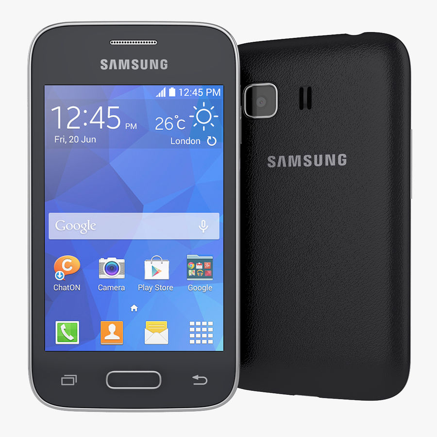 Samsung Galaxy Young 2 Smartphone 2014 royalty-free 3d model - Preview no. 1