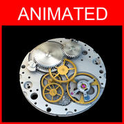 Watch Movement animated 3d model