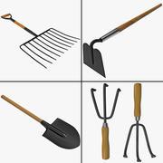 Коллекция садовых инструментов 3d model