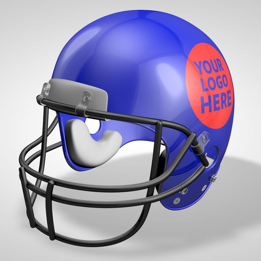 American Football Helmet royalty-free 3d model - Preview no. 7