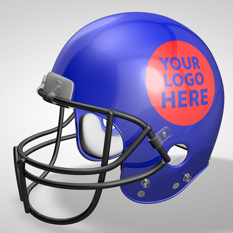 Casque de football américain royalty-free 3d model - Preview no. 2