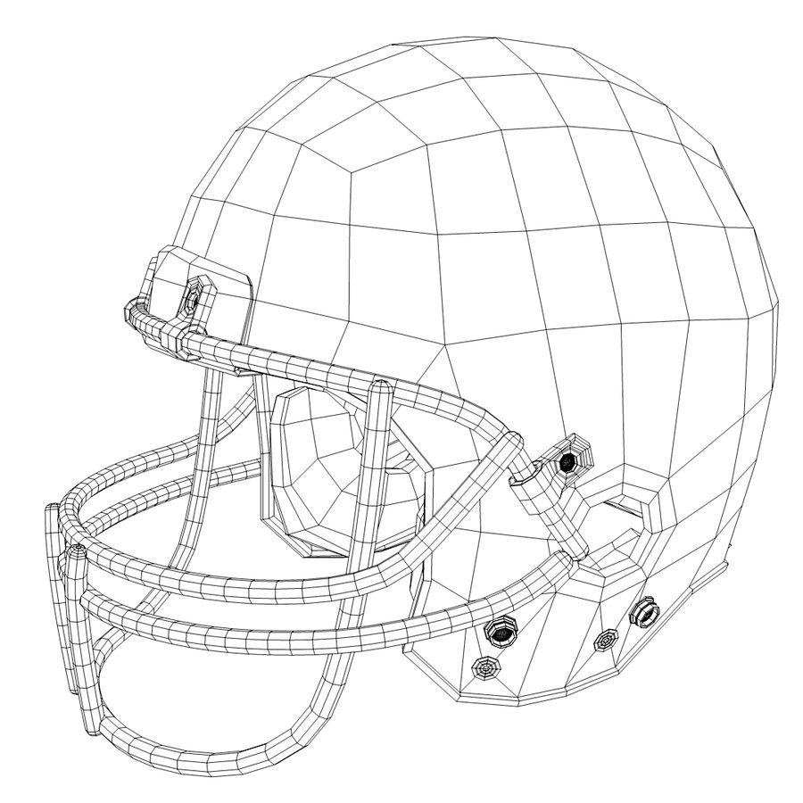 American Football Helmet royalty-free 3d model - Preview no. 3