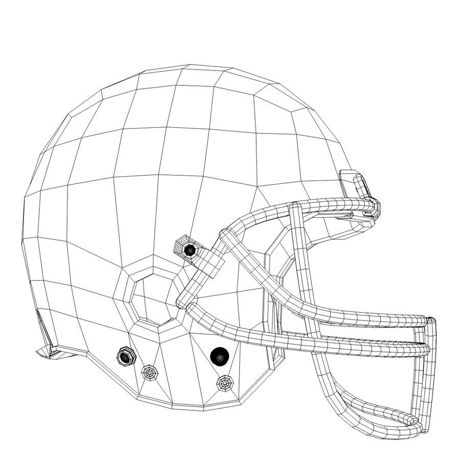 American Football Helmet royalty-free 3d model - Preview no. 5