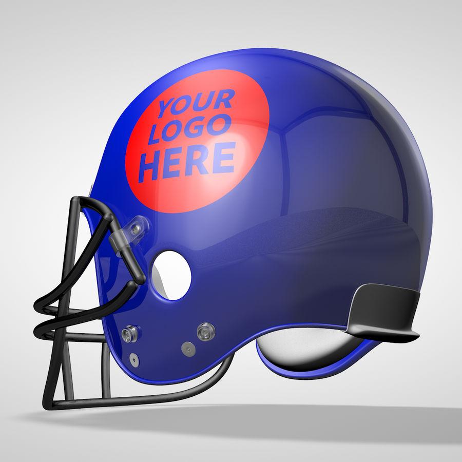 American Football Helmet royalty-free 3d model - Preview no. 6
