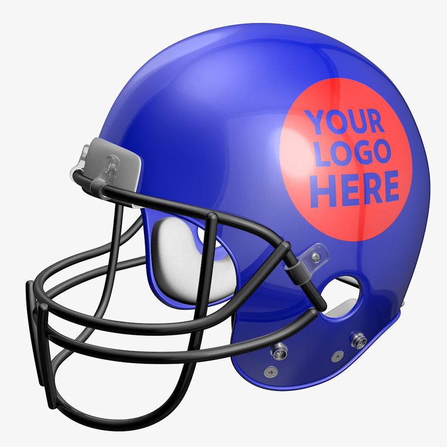 American Football Helmet royalty-free 3d model - Preview no. 1