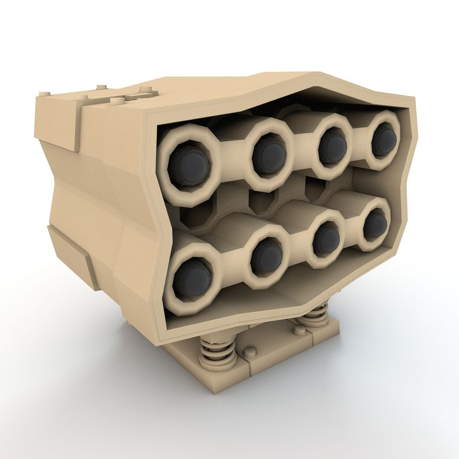 Missle Launcher royalty-free 3d model - Preview no. 3