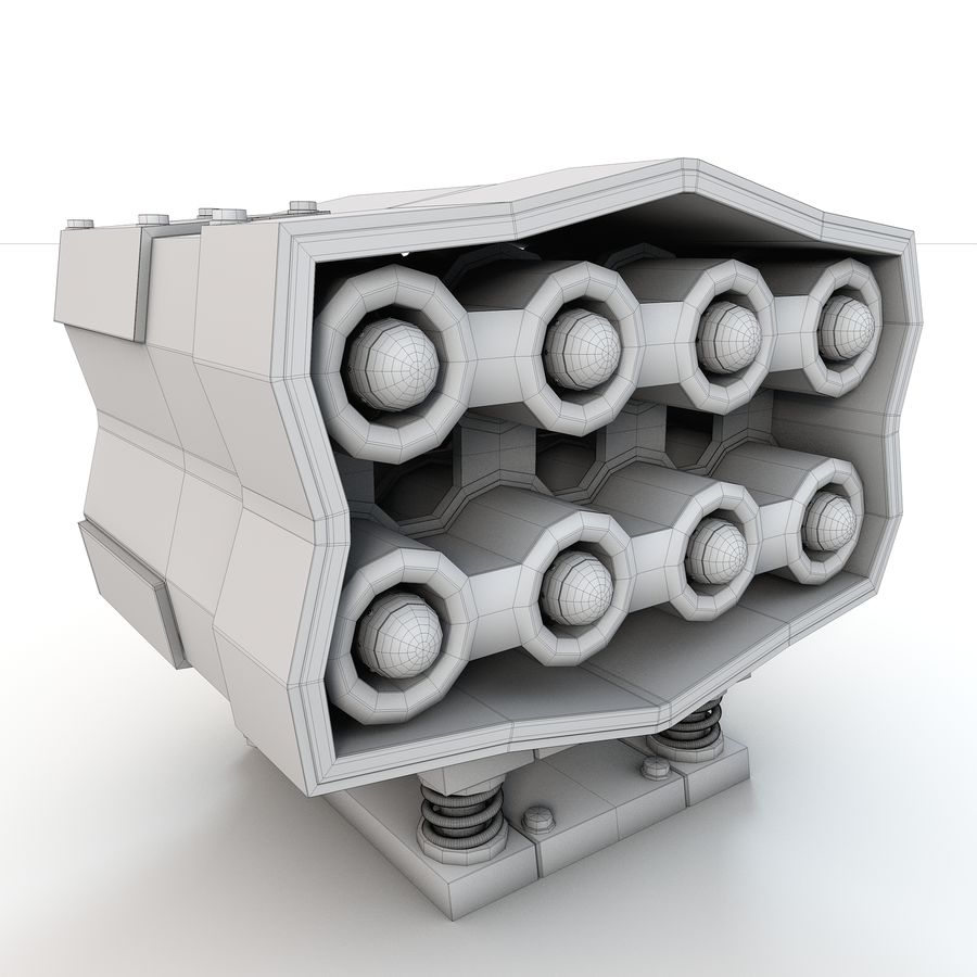 Missle Launcher royalty-free 3d model - Preview no. 10