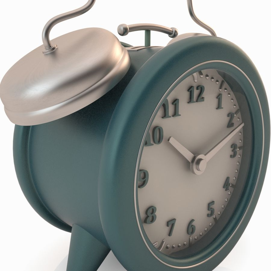 Настольные часы royalty-free 3d model - Preview no. 4