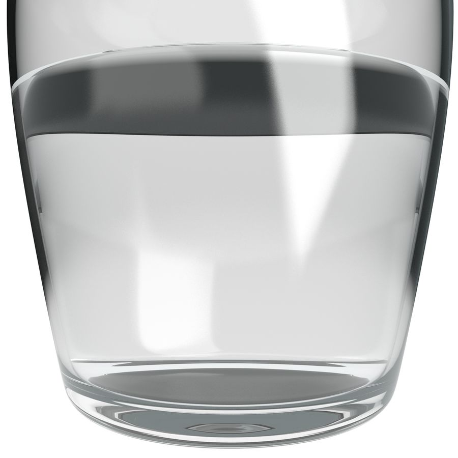 Water Carafe and Glass royalty-free 3d model - Preview no. 10
