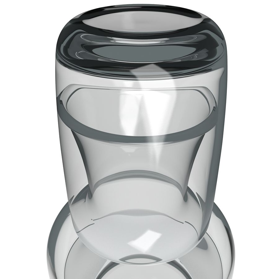 Water Carafe and Glass royalty-free 3d model - Preview no. 8