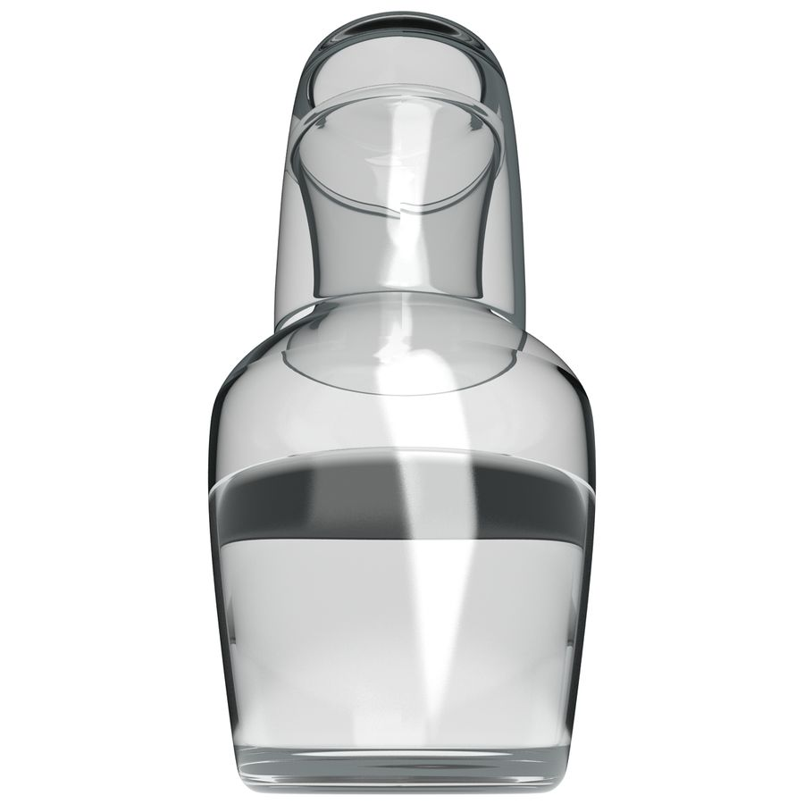Water Carafe and Glass royalty-free 3d model - Preview no. 5