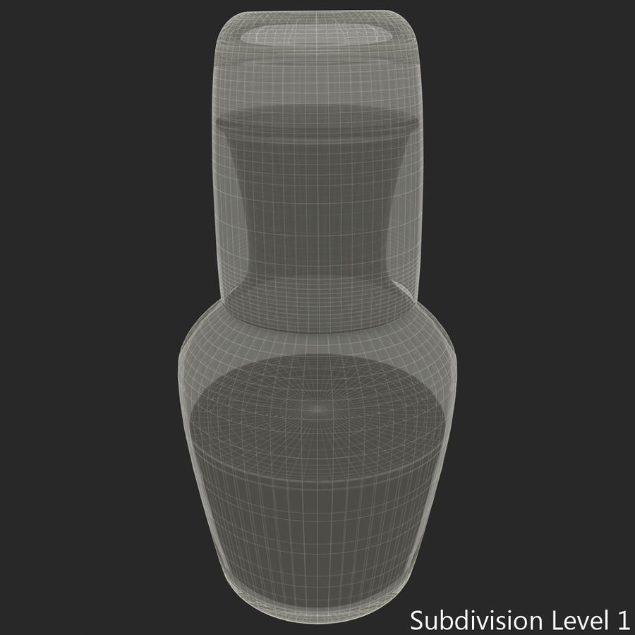 Water Carafe and Glass royalty-free 3d model - Preview no. 15