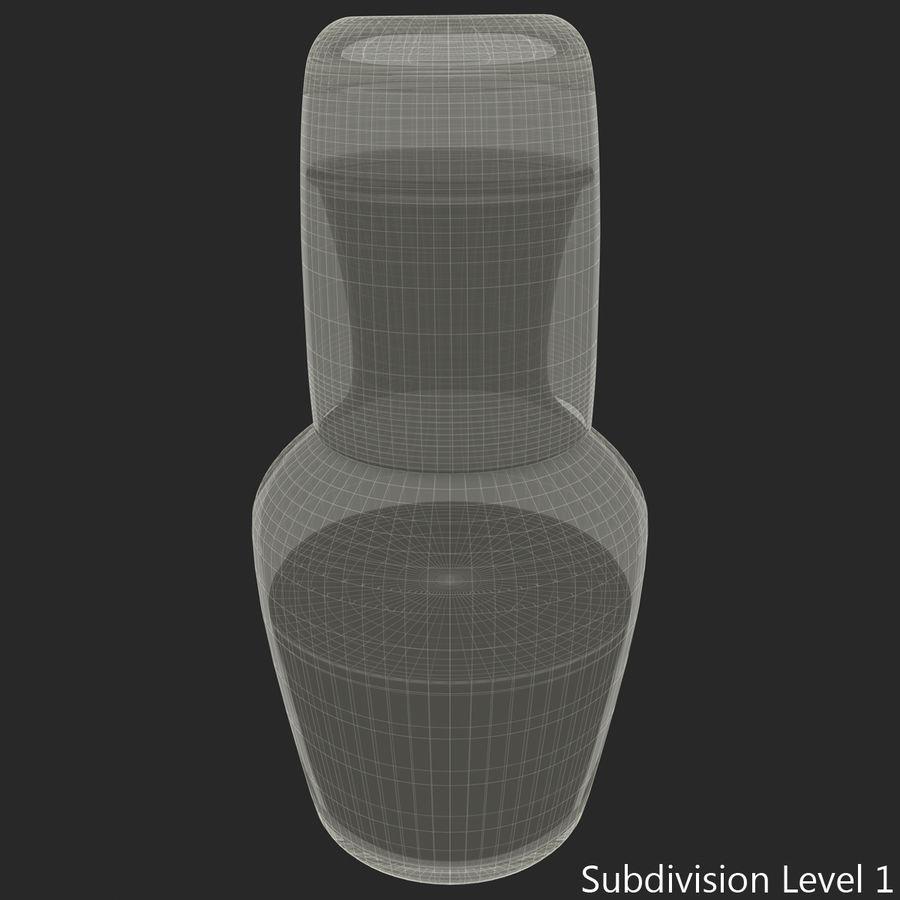 水デカンタとガラス royalty-free 3d model - Preview no. 15