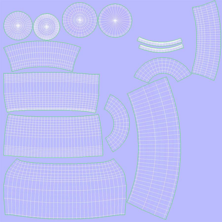 水デカンタとガラス royalty-free 3d model - Preview no. 16