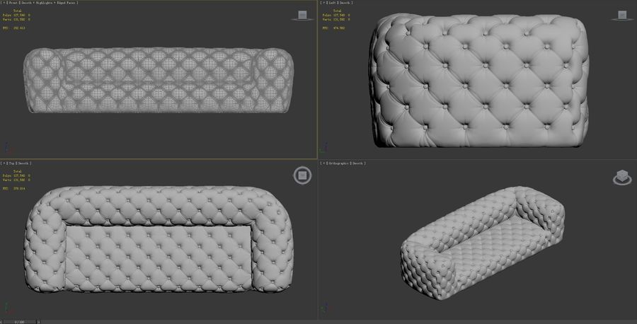 Chester-Moon-sofa royalty-free 3d model - Preview no. 9