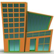 卡通建筑 3d model