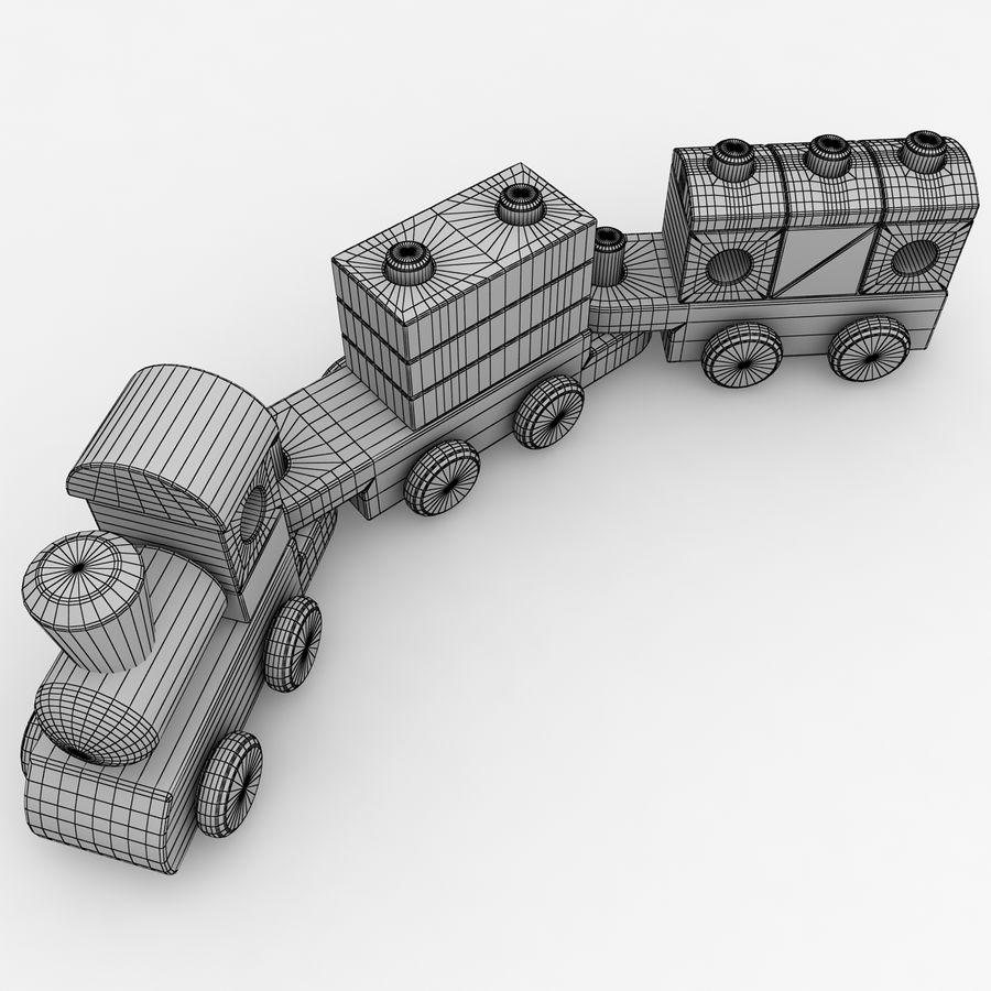 Trem de brinquedo royalty-free 3d model - Preview no. 14