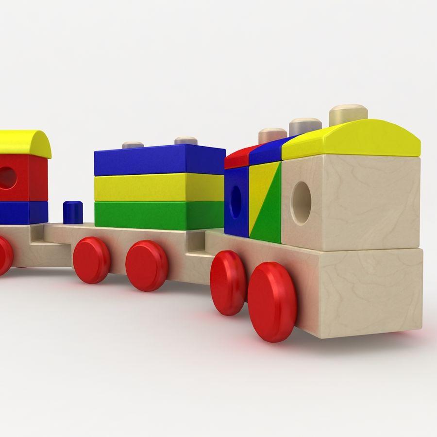 Trem de brinquedo royalty-free 3d model - Preview no. 6