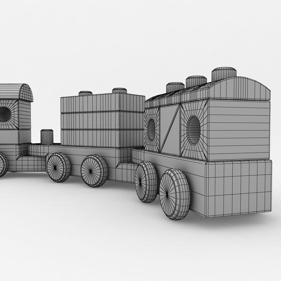 Trem de brinquedo royalty-free 3d model - Preview no. 12