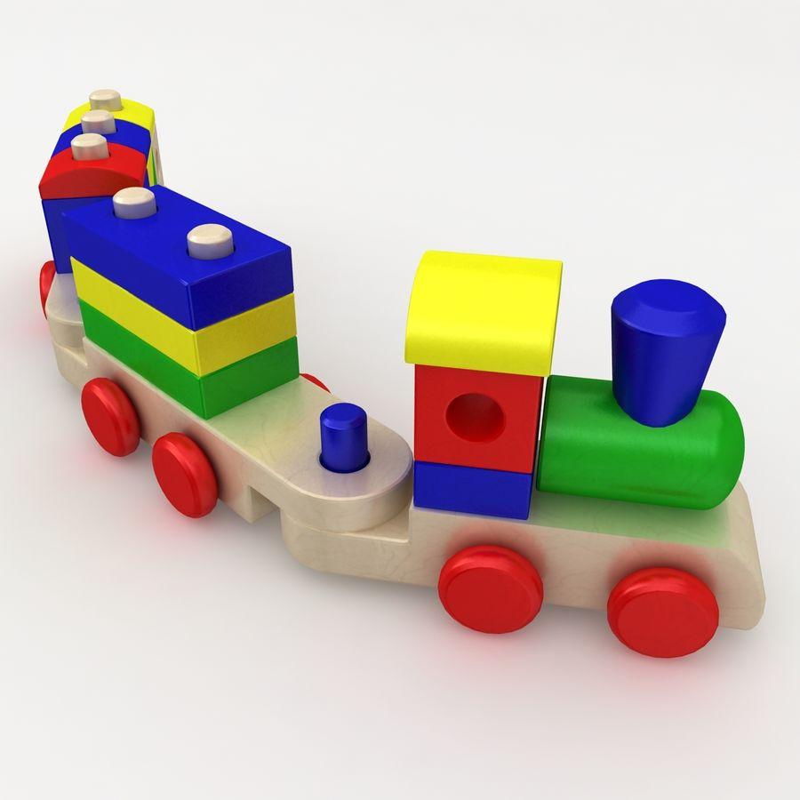Trem de brinquedo royalty-free 3d model - Preview no. 10