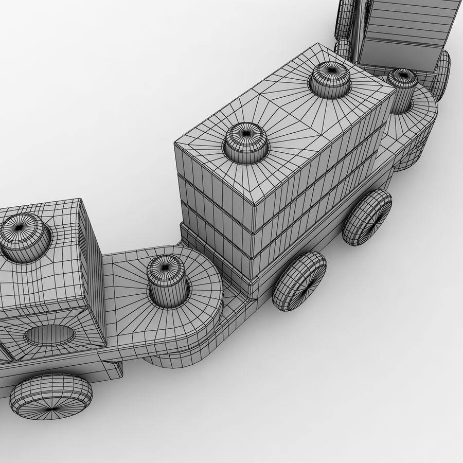 Trem de brinquedo royalty-free 3d model - Preview no. 13