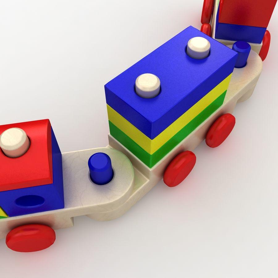 Trem de brinquedo royalty-free 3d model - Preview no. 8