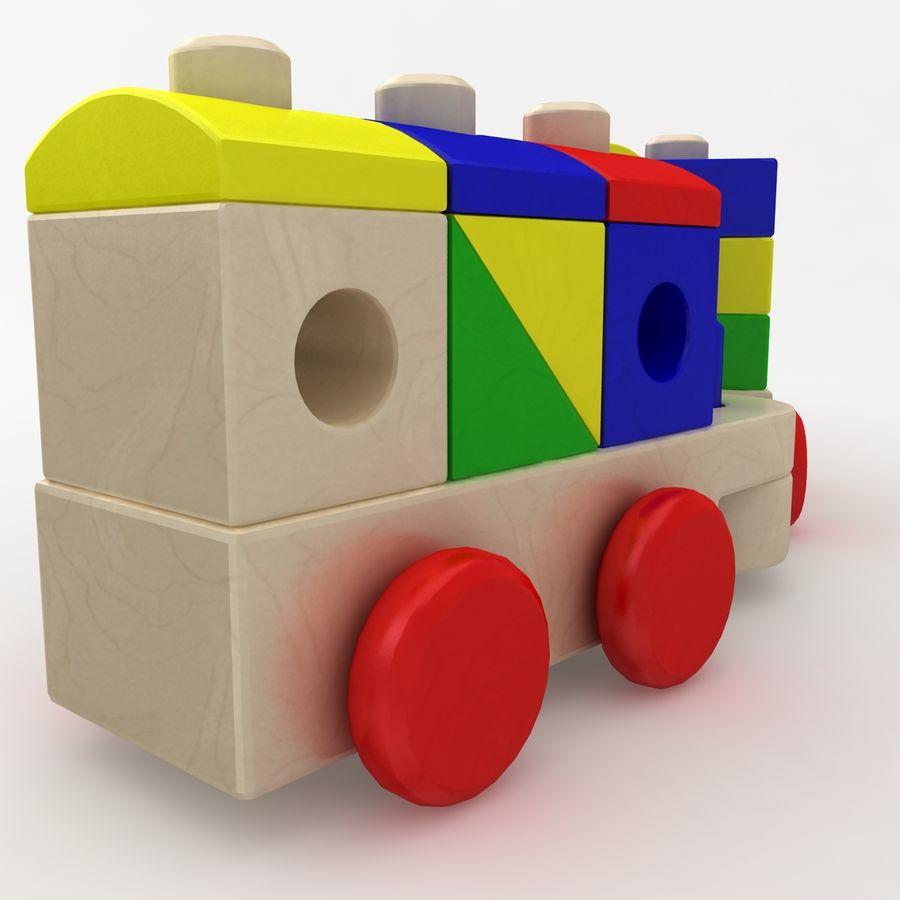 Trem de brinquedo royalty-free 3d model - Preview no. 9