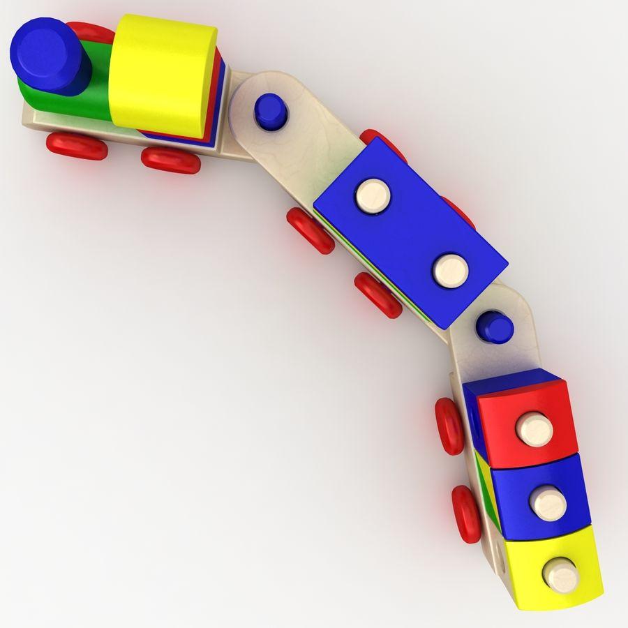 Trem de brinquedo royalty-free 3d model - Preview no. 7