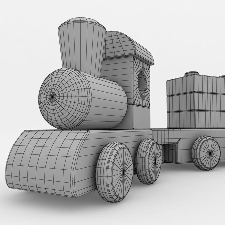 Trem de brinquedo royalty-free 3d model - Preview no. 11