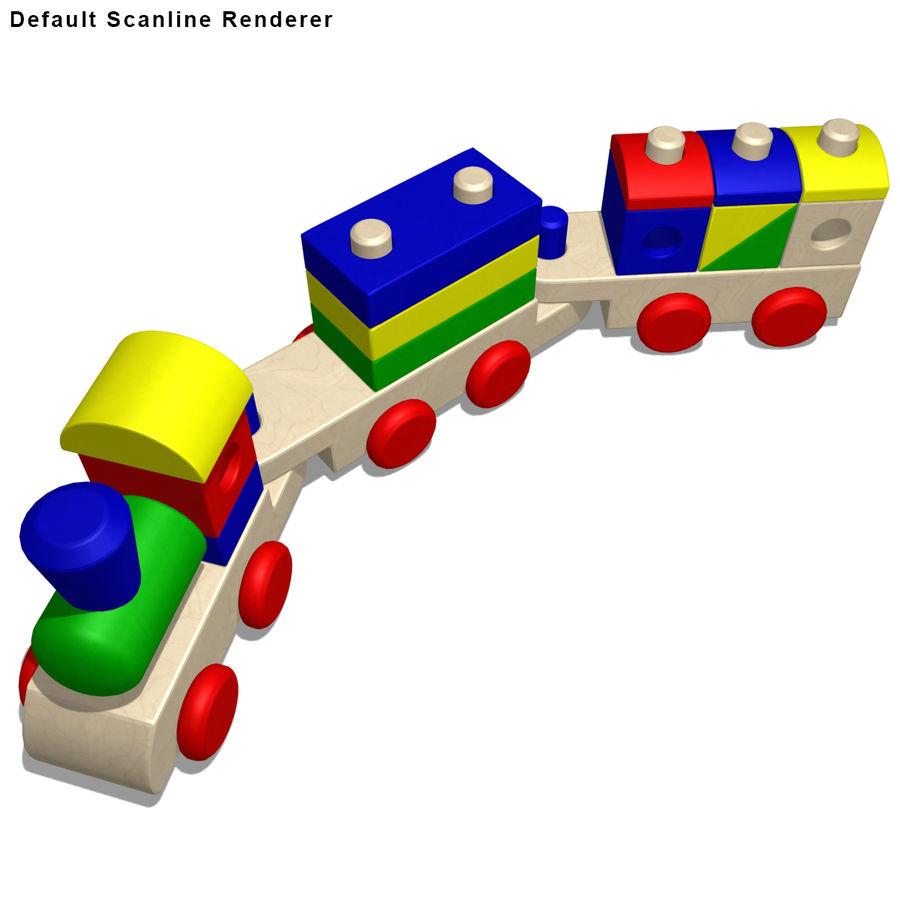 Trem de brinquedo royalty-free 3d model - Preview no. 16