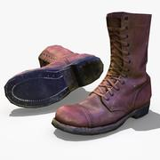 Soldier WW2 USA Boots Paratrooper 3d model