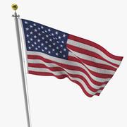 Asta della bandiera 2 3d model