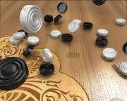 Animated backgammon 3d model