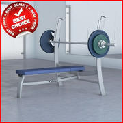 Free Weights Olympic Bench Press 3d model