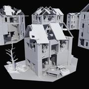 Ruined Building Collection 3d model