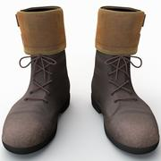 Botas de soldado 6 modelo 3d